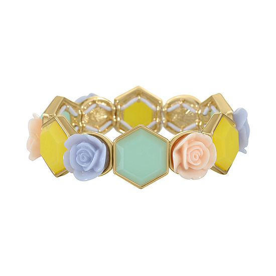Liz Claiborne Flower Stretch Bracelet