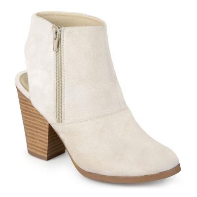 Journee Collection Tay Open Heel Booties