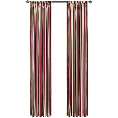 Jasper Stripe Rod-Pocket Lined Curtain Panel
