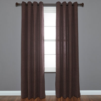 Liz Claiborne® Woven Knob Adjustable Curtain Rod