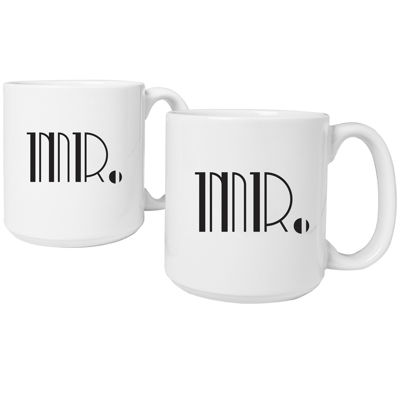 Cathy's Concepts Mr. & Mr. Gatsby Set of 2 20 oz. Coffee Mugs