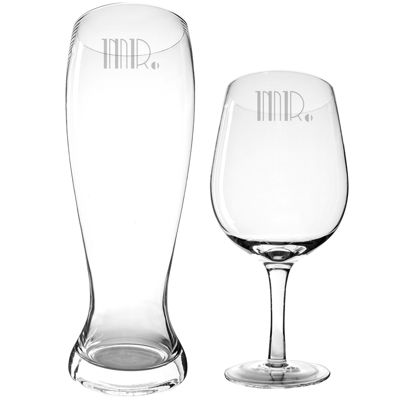 Cathy's Concepts Mr. & Mr. Gatsby XL Beer and Wine Glass Set