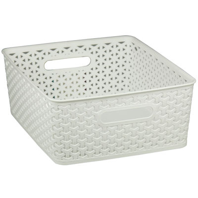Home Basics Small Plastic Storage Basket