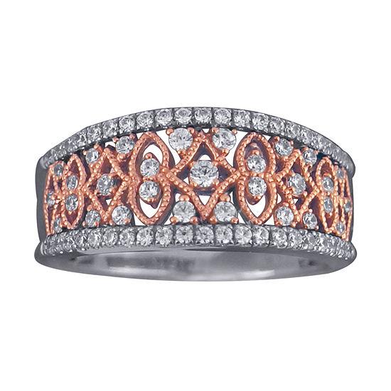 1/2 CT. T.W. Diamond 10K Two-Tone Gold Ring