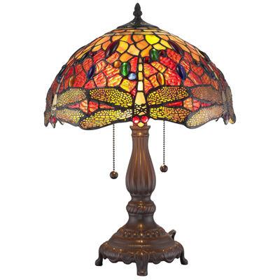 Amora Lighting AM1035TL14 Tiffany Style DragonflyTable Lamp 2 light