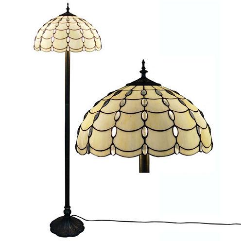 Amora Lighting AM1044FL16 Tiffany Style Cascades Floor Lamp 61 Inches Tall