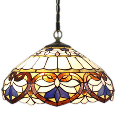 Amora Lighting AM1062HL16 Tiffany Style Baroque Pendant Lamp