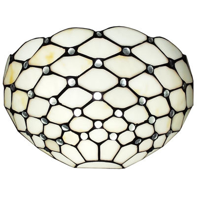 Amora Lighting AM1097WL12 Tiffany Style White WallSconce Lamp