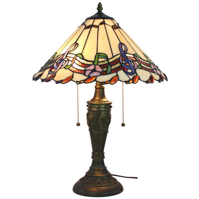 Amora Lighting AM1101TL16 Musical Notes Tiffany Style Table Lamp 24 Inches Tall