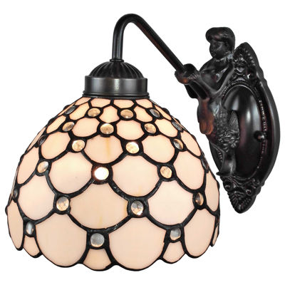 Amora Lighting AM110WL08 Tiffany Style Wall Lamp 8In Wide