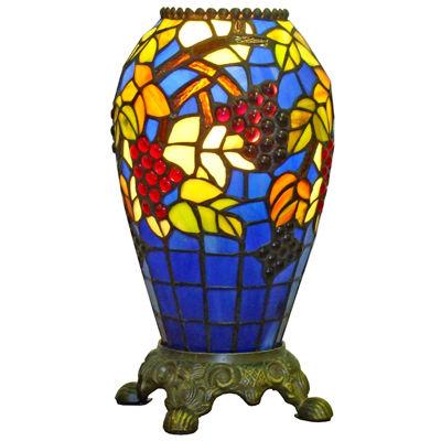 Amora Lighting AM1111V12 Tiffany-style Grapes Table Lamp 13-inch Tall