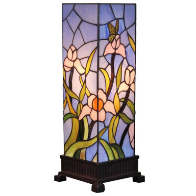 Amora Lighting AM1115TL06 Tiffany Style Floral Table Lamp