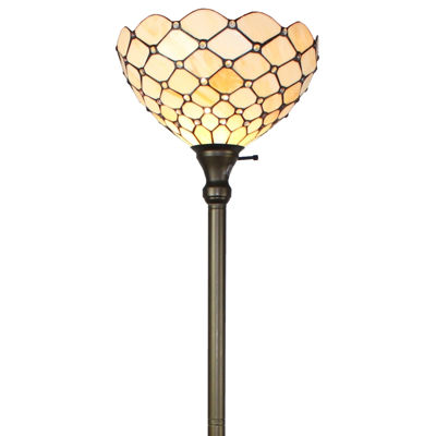 Amora Lighting AM1119FL14 Tiffany Style Floor Torchiere Lamp