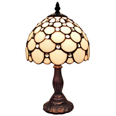 Amora Lighting AM116TL08 Tiffany Style Table Lamp8 In Wide