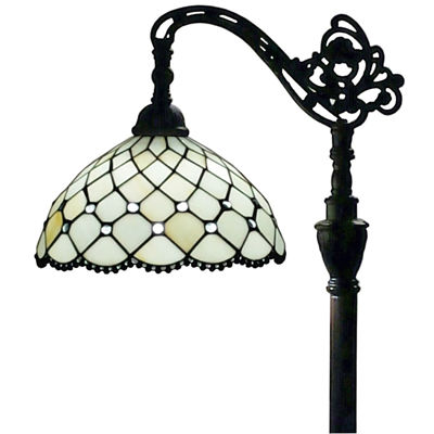 Amora Lighting AM121FL12 Tiffany Style Jewel Reading Lamp 62 In