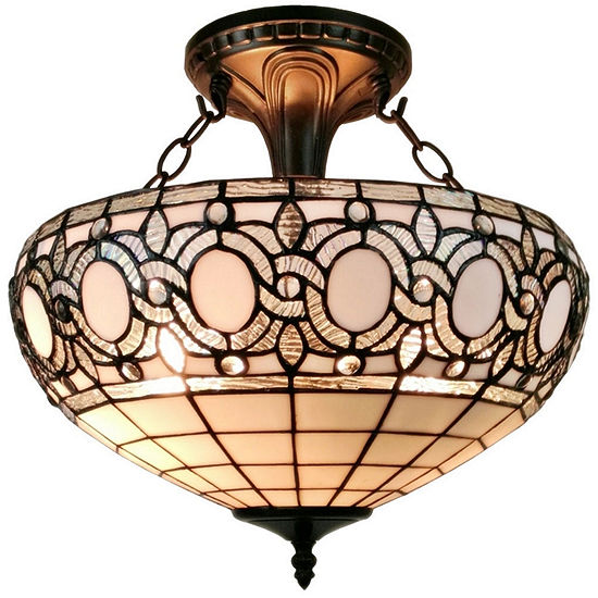 16a5cdec8231 Amora Lighting AM230HL16 Tiffany-style Semi-flushMount Ceiling Fixture -  JCPenney