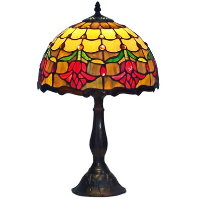 Amora Lighting AM1094TL12 Tiffany Style Tulips Table Lamp 19 Inches Tall