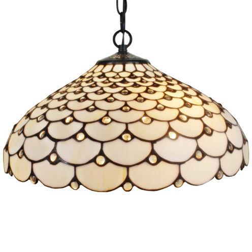 Amora Lighting AM011HL18 Tiffany Style Jeweled 2-light Hanging Lamp