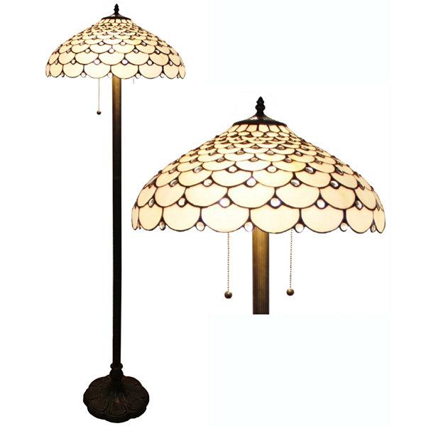Amora Lighting AM012FL18 Tiffany Style Jeweled Floor Lamp 18-Inch ...