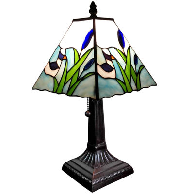 Amora Lighting AM017TL08 Tiffany Style Mission Design Little Duck Table Lamp