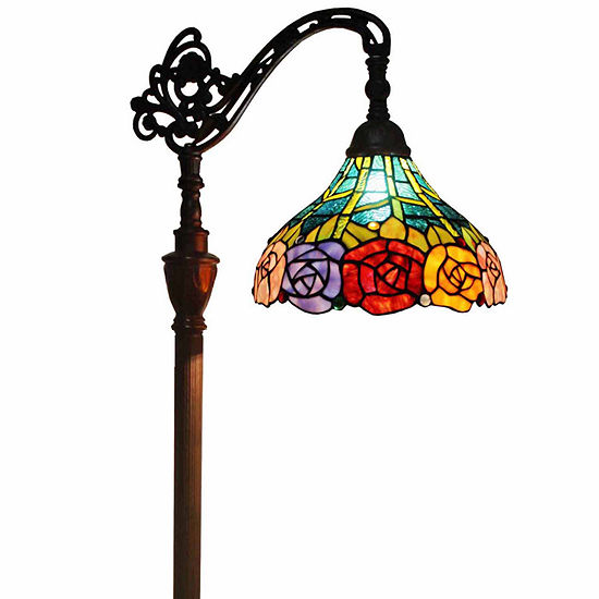 Amora lighting am035fl12 tiffany style 62 inch roses reading floor amora lighting am035fl12 tiffany style 62 inch roses reading floor lamp aloadofball Image collections