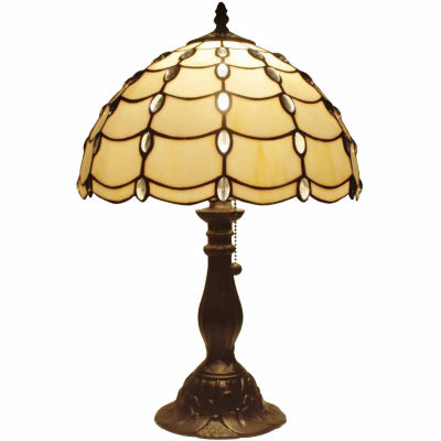 Amora Lighting AM052TL12 Tiffany Style Cascade Table Lamp 19 In
