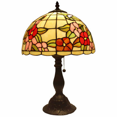 Amora Lighting AM054TL12 Tiffany Style Floral Table Lamp 19 In