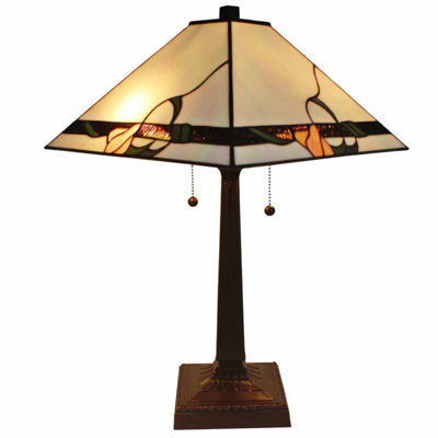 Amora Lighting  AM057TL14 Tiffany Style Mission Table Lamp 23 Inches