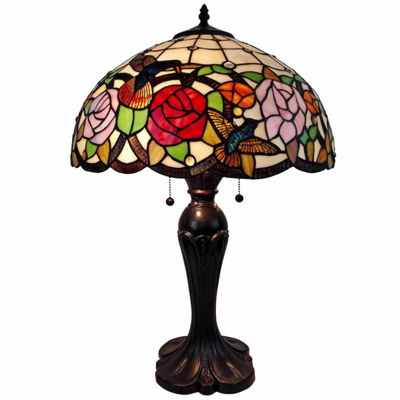 Amora Lighting AM101TL16 Tiffany Style Table Lamp