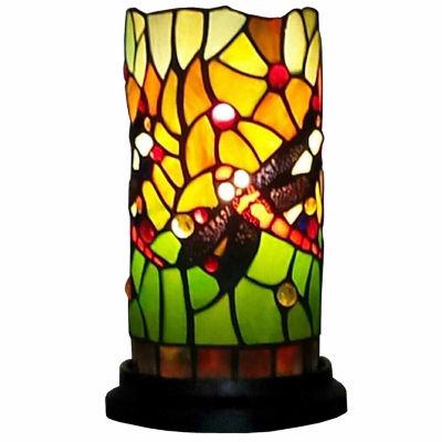 Amora Lighting AM1015ACC Dragonfly Tiffany Style Mini Table Lamp