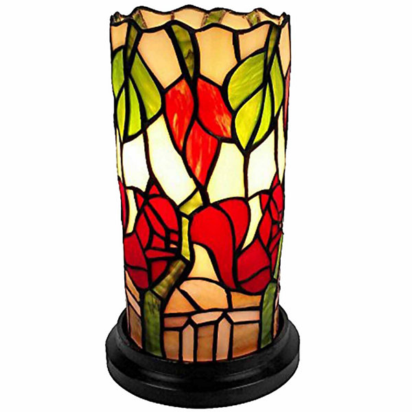 Amora Lighting AM092ACC Tiffany Style Floral MiniTable Lamp 10 Inches Tall