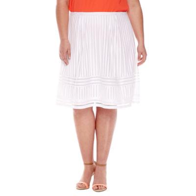 Worthington® Pleated Lace Skirt - Plus