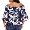 a.n.a 3/4 Sleeve Off the Shoulder Woven Blouse-Plus