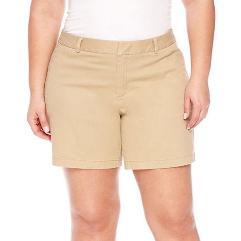 """a.n.a 7"""" Chino Shorts-Plus"""