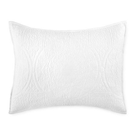 JCPenney Home Emma Pillow Sham, One Size , White