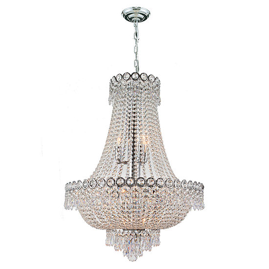 Empire Collection 12 Light Medium Round Crystal Chandelier