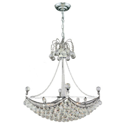 Empire Collection 6 Light Square Crystal UmbrellaChandelier