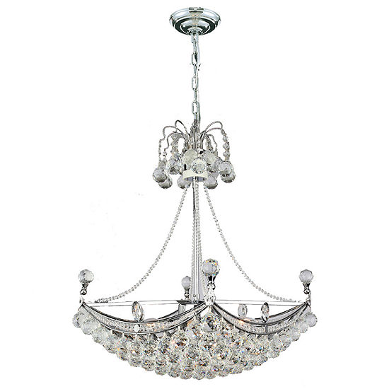 Empire Collection 6 Light Square Crystal Umbrella Chandelier