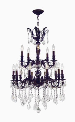 Versailles Collection 15 Light 2-Tier Clear Crystal Chandelier