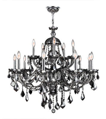 Provence Collection 15 Light 2-Tier Chrome Finishand Crystal Chandelier