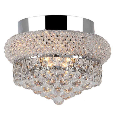 Empire Collection 3 Light CClear Crystal Flush Mount Ceiling Light