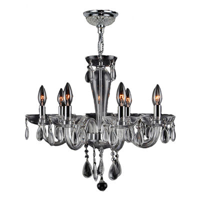 Gatsby Collection 8 Light Chrome Finish and BlownGlass Chandelier