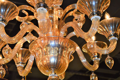 Murano Collection 8 Light Blown Glass Venetian Style Chandelier