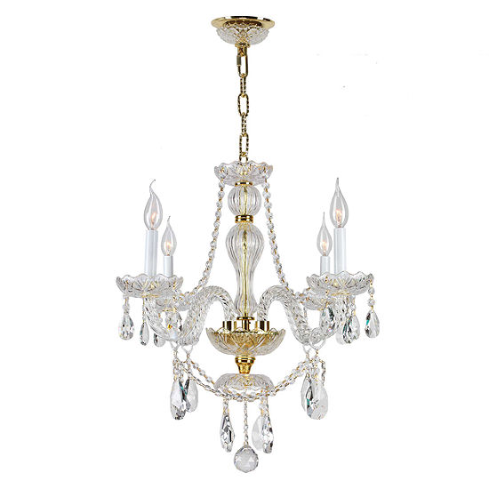 Provence Collection 4 Light Clear Crystal Chandelier