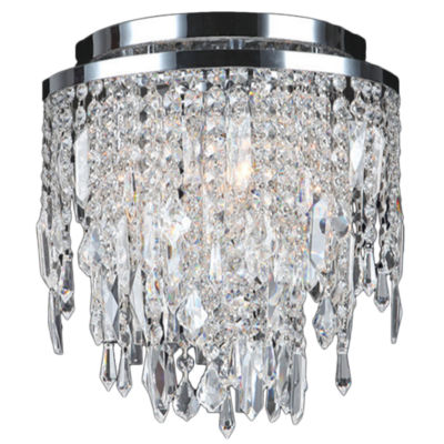 Tempest Collection 4 Light Chrome Finish Crystal Flush Mount Ceiling Light
