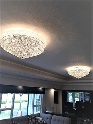 Empire Collection 15 Light Clear Crystal Flush Mount Ceiling Light