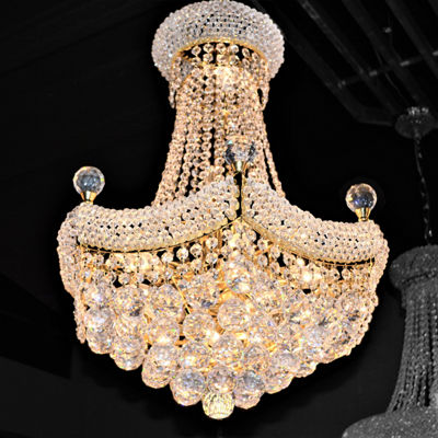 Empire Collection 12 Light Crystal Chandelier