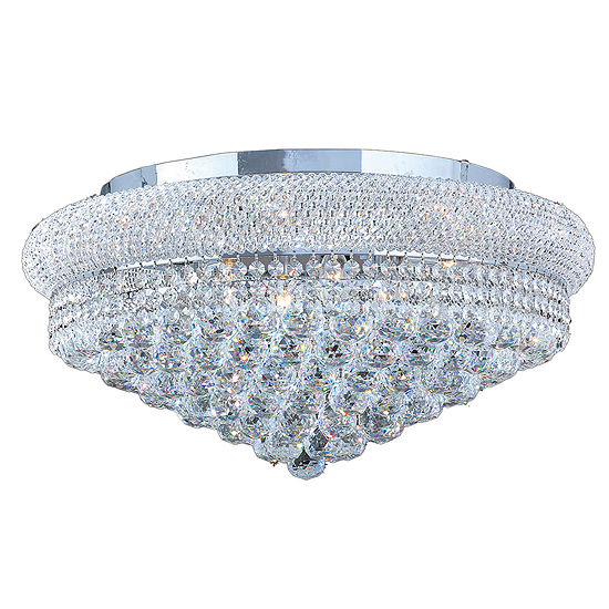 Empire Collection 12 Light Clear Crystal Flush Mount Ceiling Light