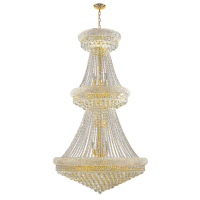 Empire Collection 32 Light 2-Tier Round Crystal Chandelier