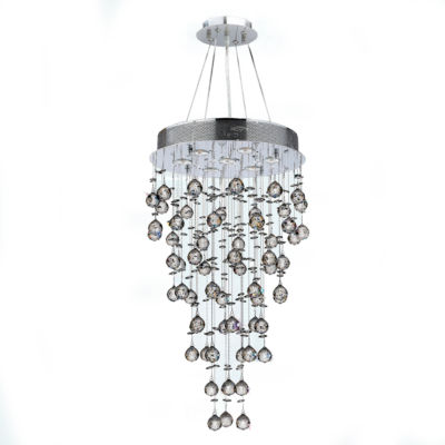 Icicle Collection 7 Light Chrome Finish and Clear Crystal Chandelier
